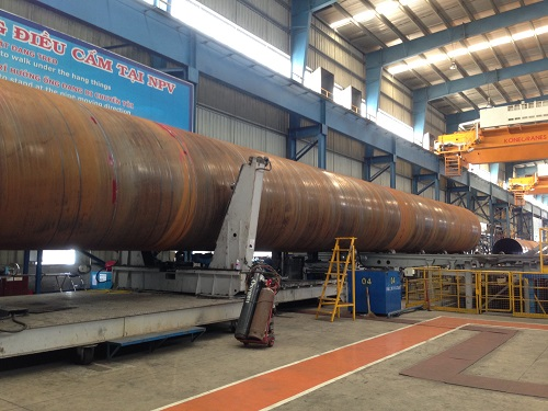 Cọc ống thép tại nhà máy