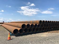 Lưu chứa cọc ống thép tại kho bãi